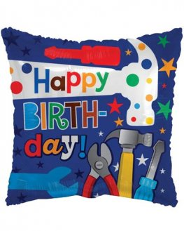 "18"" Happy Birthday Tools Foil Balloons"