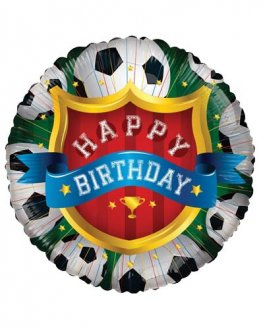 "18"" Happy Birthday Football Foil Balloons"