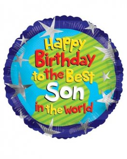 "18"" Happy Birthday Son Foil Balloons"