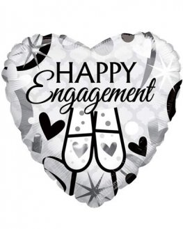 "18"" Happy Engagement Glasses Foil Balloons"