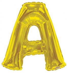 Gold Letter A Supershape Balloons