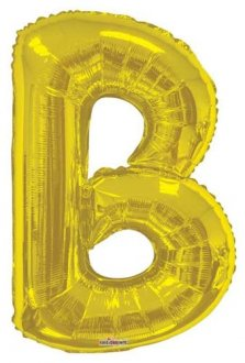 Gold Letter B Supershape Balloons