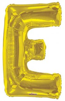 Gold Letter E Supershape Balloons
