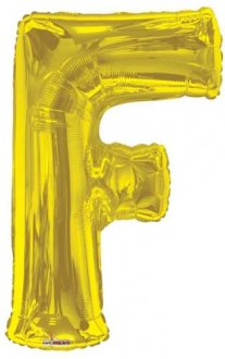 Gold Letter F Supershape Balloons