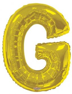 Gold Letter G Supershape Balloons