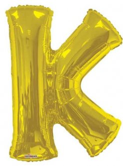 Gold Letter K Supershape Balloons