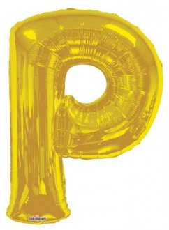 Gold Letter P Supershape Balloons