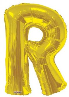 Gold Letter R Supershape Balloons