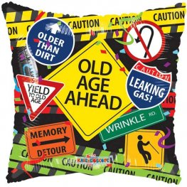 "18"" Old Age Ahead Foil Balloons"