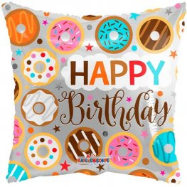 "18"" Happy Birthday Donuts Foil Balloons"