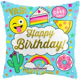 "18"" Happy Birthday Cake Foil Balloons"
