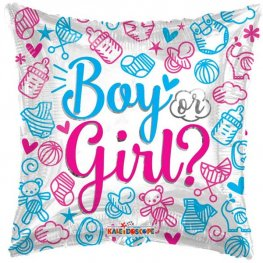 "18"" Boy Or Girl Gender Reveal Foil Balloons"