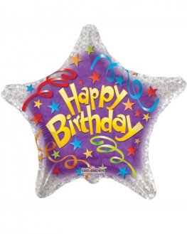 "18"" Happy Birthday Streamers Foil Balloons"