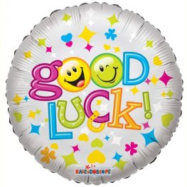 "18"" Good Luck Smiles Foil Balloons"