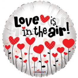 "18"" Love Is In The Air Foil Balloons"