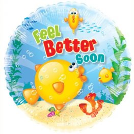 "18"" Feel Better Soon Foil Balloons"