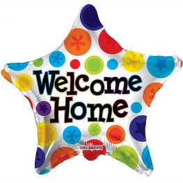 "18"" Welcome Home Star Foil Balloons"