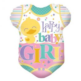 "18"" Baby Girls Clothes Shape Foil Balloons"