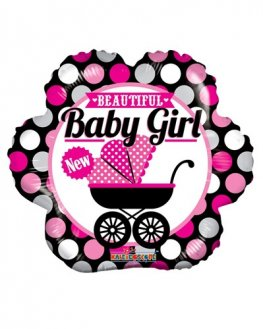 "18"" Beautiful Baby Girl Foil Balloons"