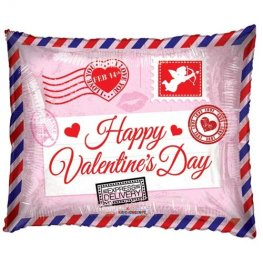 "18"" Happy Valentines Day Envelope Foil Balloons"