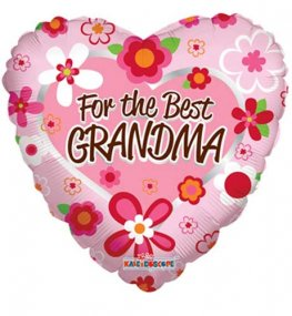 "18"" For The Best Grandma Foil Balloons"
