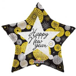 "18"" Happy New Year Star Foil Balloons"