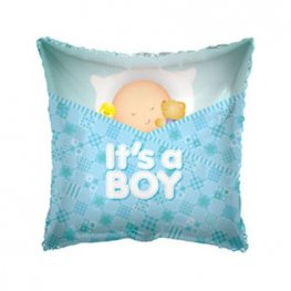 "18"" Baby Boy Sleeping Pillow Foil Balloons"
