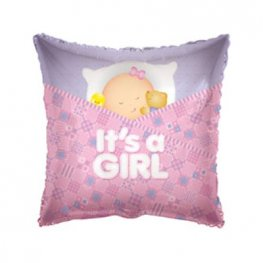 "18"" Baby Girl Sleeping Pillow Foil Balloons"