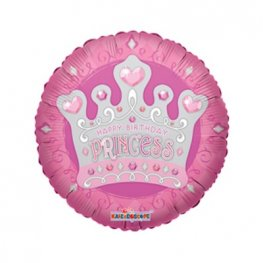 "18"" Happy Birthday Princess Foil Balloons"