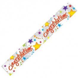 Congratulations Stars Holographic Banner