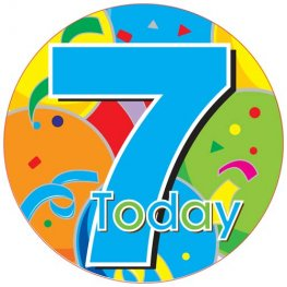 7 Today Male Party Badge