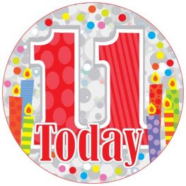 11 Today Party Badge