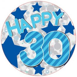 Happy 30th Blue Giant Party Badge