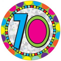 Age 70 Giant Party Badge
