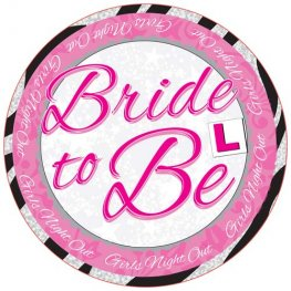 Bride To Be Giant Party Badge