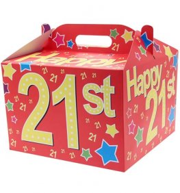 21st Birthday Party Balloon Box