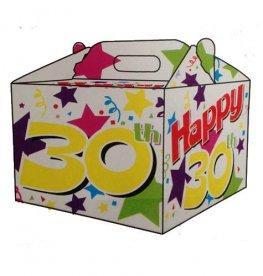 30th Birthday Party Balloon Box