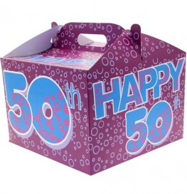 50th Birthday Party Balloon Box