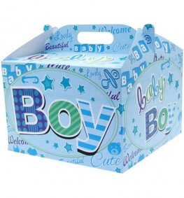 New Baby Boy Party Balloon Box