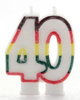 Number Candle Age 40 (Pack Of 6)