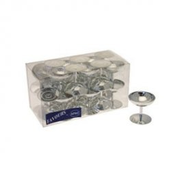 Silver Champagne Glass Favours x24