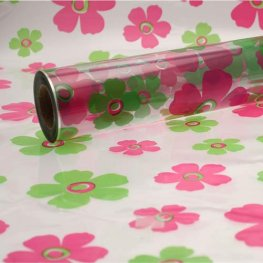 Lime & Pink Fleur Cellophane Florist Film