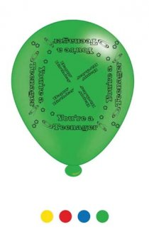 "10"" Teenage Assorted Latex Balloons 6 Packs Of 8"