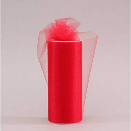 Red Tulle 15cm x 23m