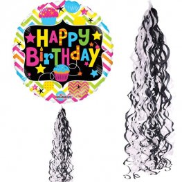 Black & White Balloon Tails