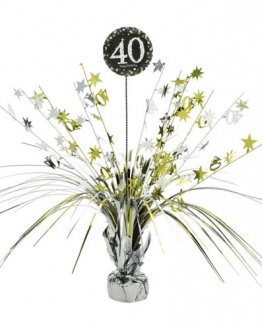 Gold Celebration 40th Centrepiece Spray 1pk