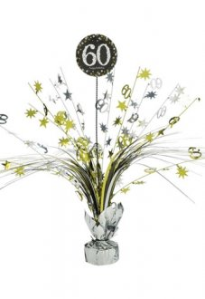 Gold Celebration 60th Centrepiece Spray 1pk