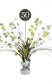 Gold Celebration 50th Centrepiece Spray 1pk