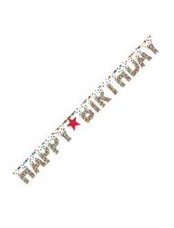 Primary Rainbow Birthday Giant Letter Banner