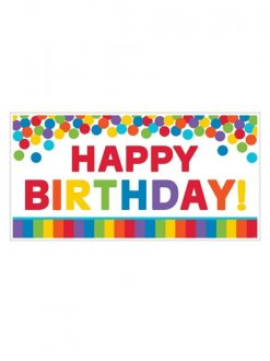Primary Rainbow Birthday Giant Party Sign